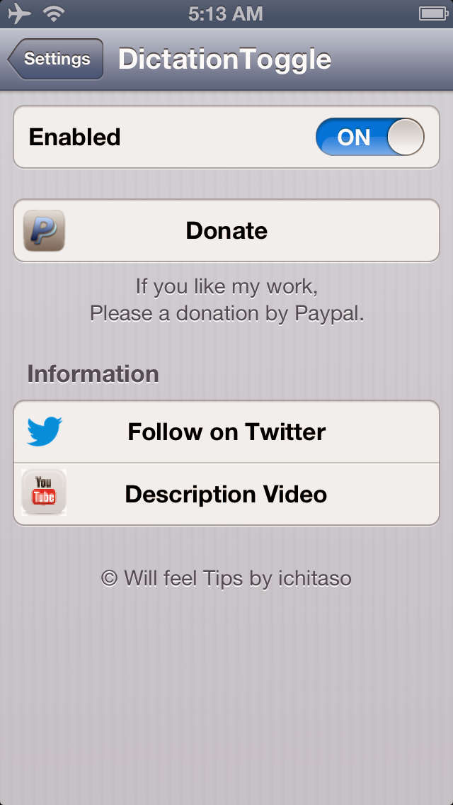 Dictation Toggle for SBSettings – Siriを有効にしたままキーボードの ...