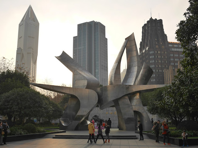 May Thirtieth Movement Monument (五卅运动纪念碑) by Yu Jiyong (余积勇) and Shen Tingting (沈婷婷) in People's Park in Shanghai
