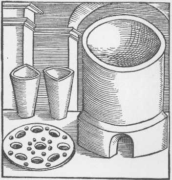 The Fusion Or Melting Furnace Taken From Geber Works London 1678, Alchemical Apparatus
