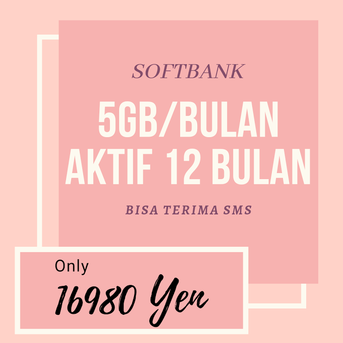 SOFTBANK 5GB/BLN 12BULAN