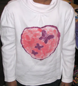 Kids can make their T-shirt Makeover with sticker resist painting