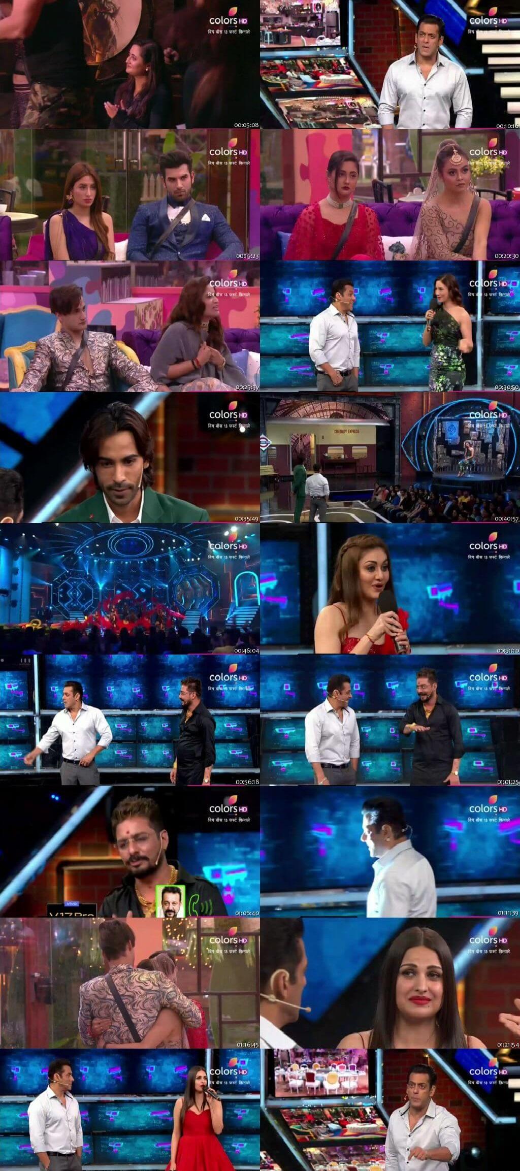 Screenshots Of Hindi Show Bigg Boss 13 2nd November 2019 Episode 33 300MB 480P HD