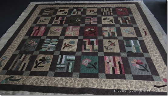 Japanese flower garden whole quilt
