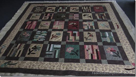 Japanese flower garden whole quilt
