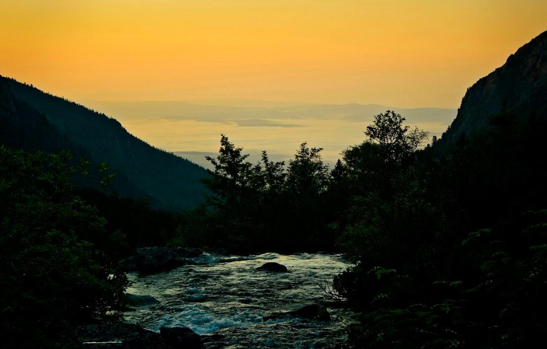Dolina Staroleśna o świcie