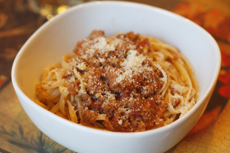 Above an Italian Restaurant: Slow Cooker Bolognese Sauce