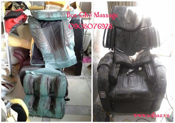 Bọc lại da ghế massage cũ tại TPHCM