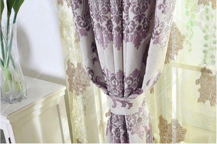 Rèm vải đẹp hà nội họa tiết đơn giản 8