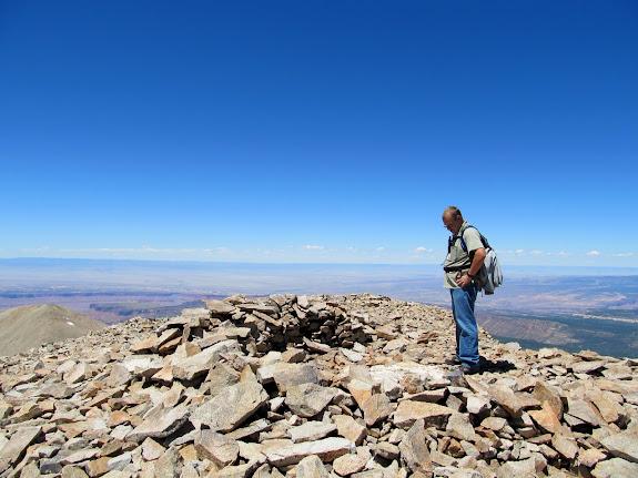 Mark on top of Mt. Waas