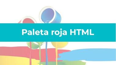 Paleta de color rojo HTML
