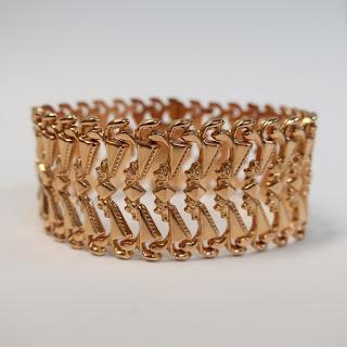 18K Wide Link Bracelet