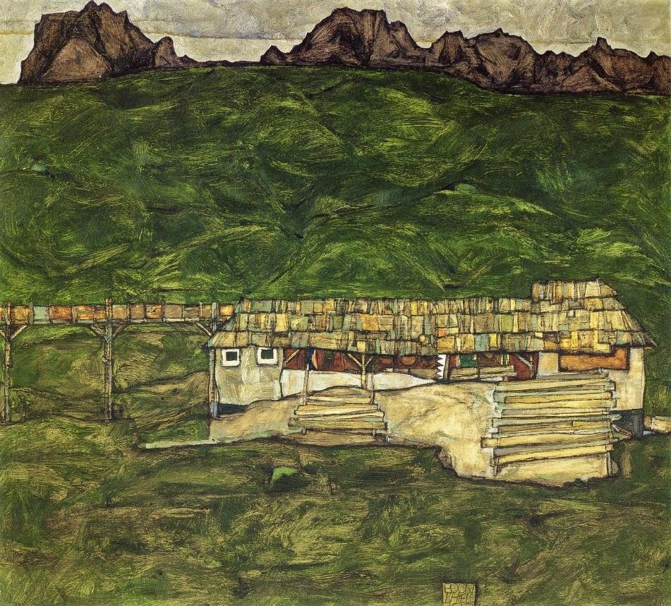 Egon Schiele - Sawmill
