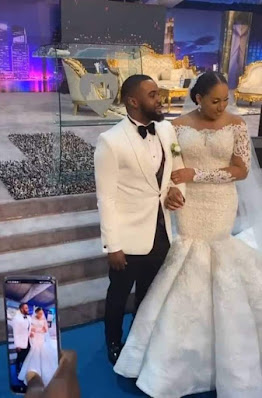 Actor Uchemba And Brunella Oscar's White Wedding (PHOTOS).