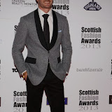 WWW.ENTSIMAGES.COM -    Thom Evans   at    Scottish Fashion Awards  at 8 Northumberland London October 9th 2013                                                 Photo Mobis Photos/OIC 0203 174 1069