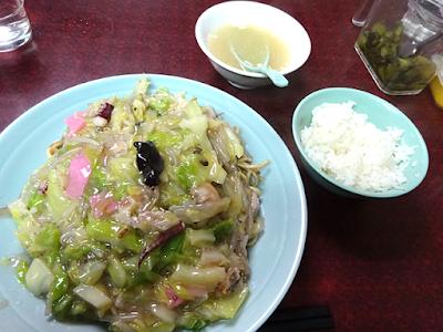 軟麺皿うどんランチ