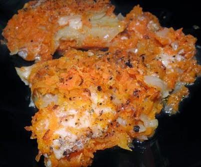 Ryba z marchewka i cebula
