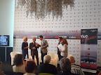 """Conferenza Stampa """"Reason Wine"""", 4 settembre 2011 - Lido di Venezia, Rosa Bianco Finocchiaro, Claudio Galletti, Beppe Fiorello, Michele Pisante, Laura Delli Colli"""