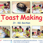 Cooking Experience - Toast Making Activity by Jr. KG Section (2018-19), Witty World, Goregaon East