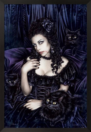 Gothic Witch And Cats, Wicca Girls