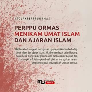 Perppu Ormas Menikam Umat Islam dan Ajaran Islam