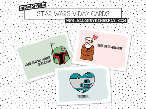 photograph regarding Star Wars Printable Card known as 30 No cost Printable Star Wars Valentines - The Kim 6 Repair