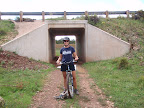Paseo del Lobo Section 39 bike ride crosses through a highway underpass (Photo by A. Larson)