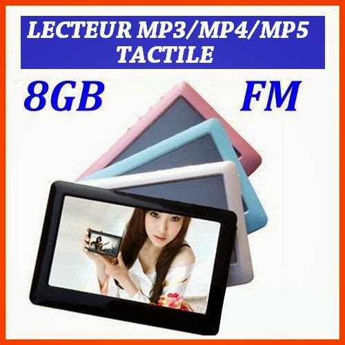 lecteur tactile mp3 mp4 mp5 8gb 8go ecran 4 3 pouces full hd livraison 24 48h. Black Bedroom Furniture Sets. Home Design Ideas