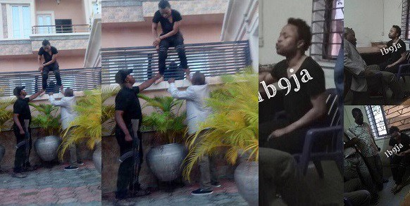 Tunde Ednut releases pictureof Bobrisky being thrown overthe gate by police after hewas arrested last month