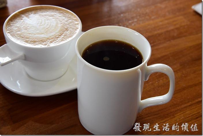 台南-光合箱子早午餐。黑咖啡,喝起來帶點為酸順口。