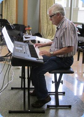 Peter Longbottom playing his Korg Pa600. Photo courtesy of Diane Lyons.