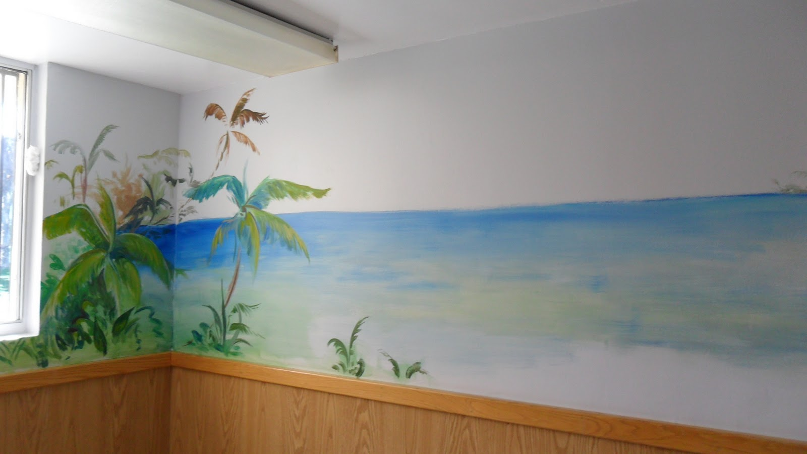 illustrations in the rough: Beach Murals At Del Amo Hospital