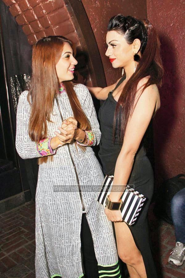 Ariyanka and Ankita during Kriti Dhir's birthday party, held at The Mansion Club in Garden Of Five Senses, New Delhi.