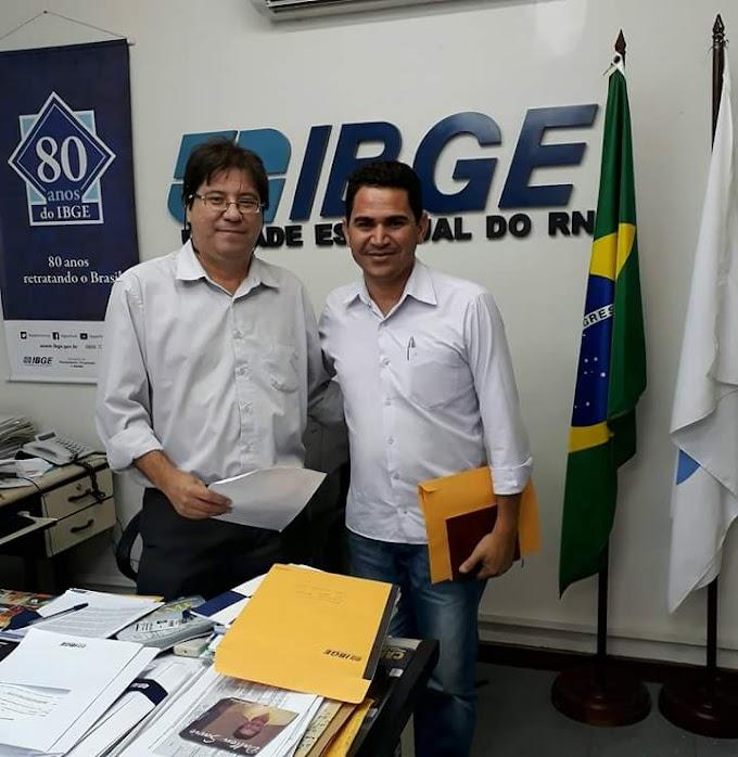 VEREADOR PASTOR FRANK NA LUTA PELA UNIDADE DO IBGE EM JOÃO CÂMARA
