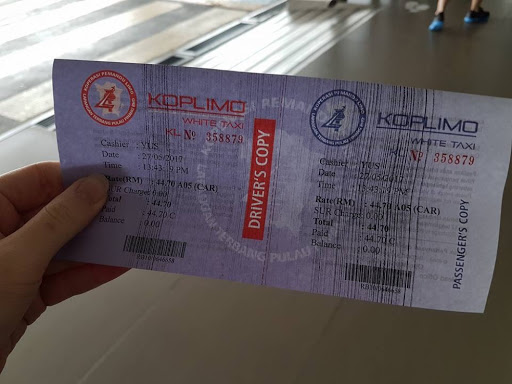 Taxi voucher from Penang International Airport Malaysia