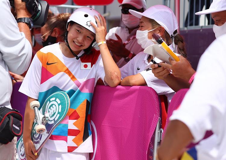 Gold medalist Momiji Nishiya of Japan.