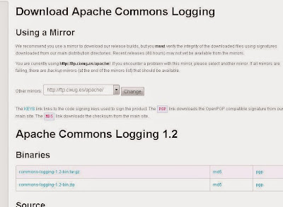 Descarga de librerías Java Jackcess, Apache Commons Lang, Apache Commons Logging para acceso a base de datos Microsoft Access mediante Java