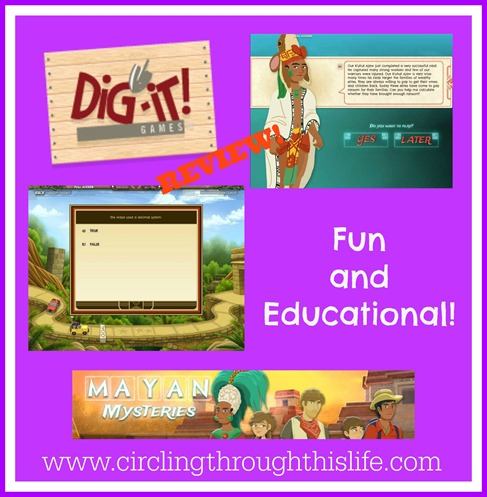 Myan Mysteries and online game that is both fun and educational! Read the review at Circlng Through This Life!