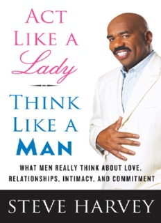 Book - Act like a Lady, think like a man by Steve Harvey