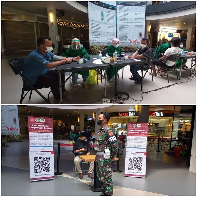 TNI bekerja sama dengan Cilandak Town Square (Citos) mengadakan serbuan vaksinasi bagi Warga DKI dan Non KTP DKI bisa datang Vaksin