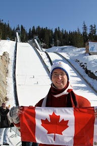 Me representing Canada at the ski jumping hill
