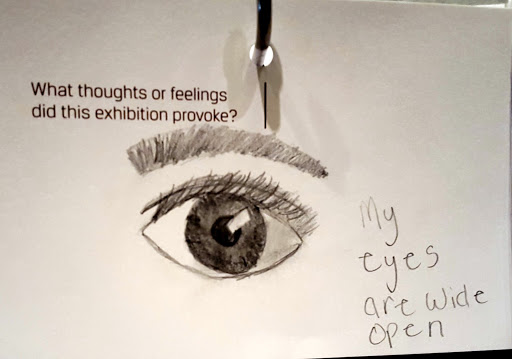 My eyes are wide open. From Love, Change, and the Expression of Thought: 30 Americans at the Detroit Institute of Arts