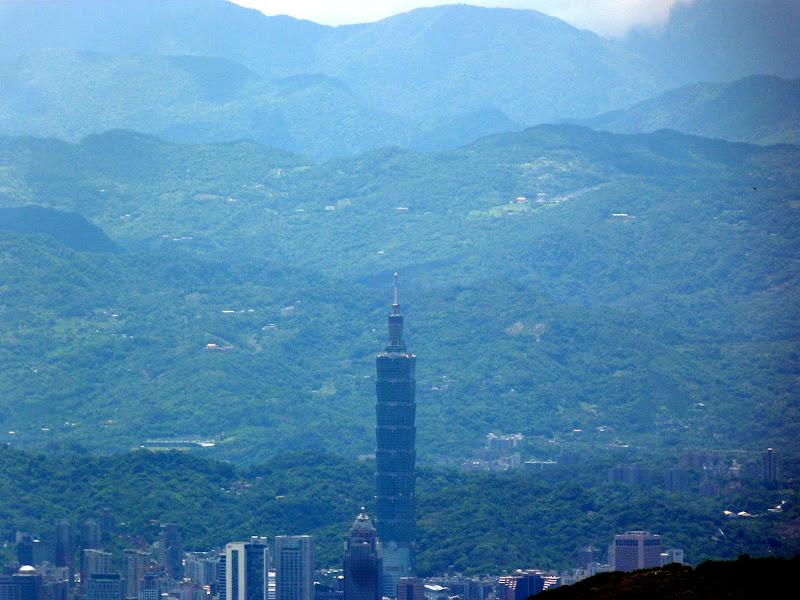 Taipei  101 vue de Yangmingshan
