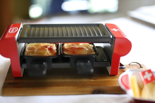 Schweizer Raclettekäse auf Pizza