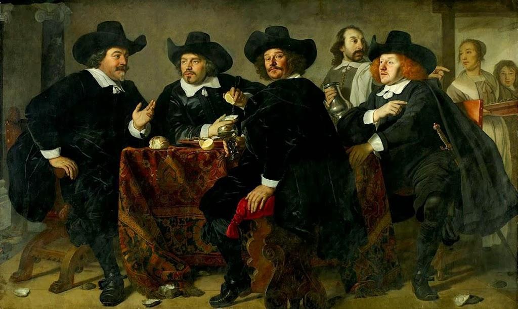 Bartholomeus van der Helst - Regents of Kloveniersdoelen Eating Oysters