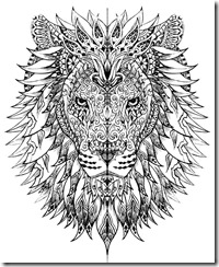 Mandala Lion Free coloring pages