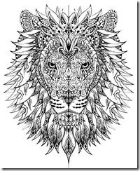 Mandala Lion Free coloring pages