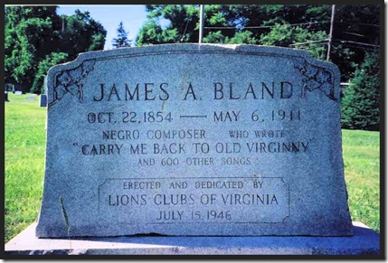 James A. Bland's headstone