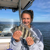 Molly with a Sheepshead 11-21-2018