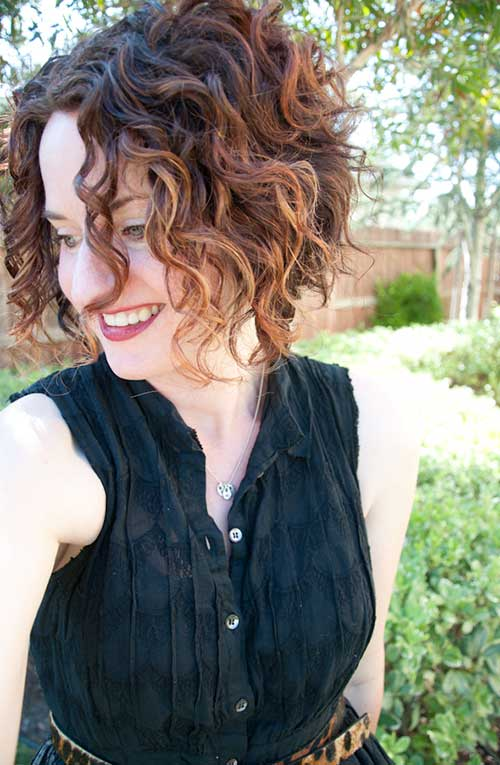 cute short curly hair for 2016