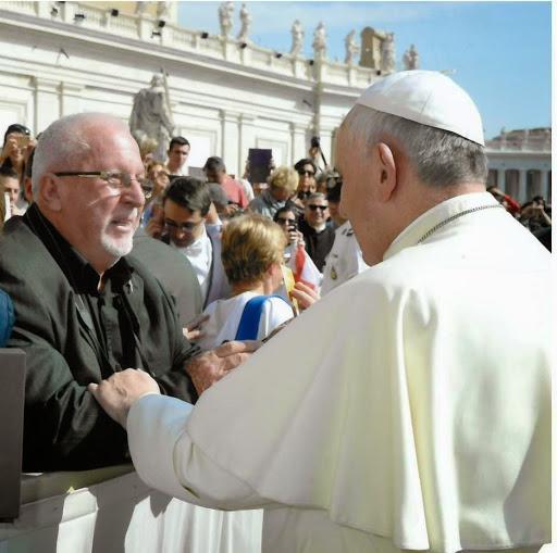 Padre Ugo Montagner con Papa Francesco